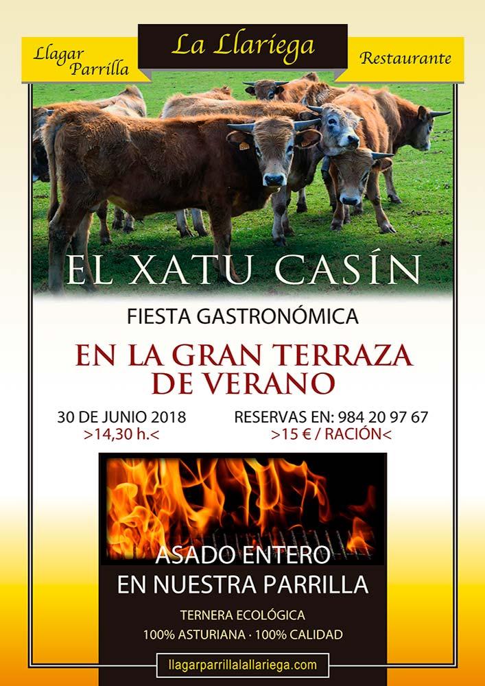 Fiesta gastronomica El Xatu Casin, cartel