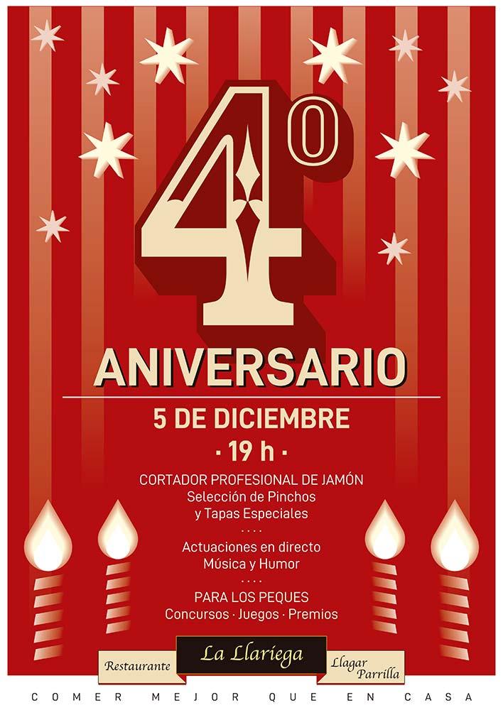 4 Aniversario La Llariega, llagar y parrilla.